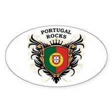 Portugal Rocks Oval Decal