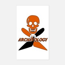 Skull & Crossed Trowels Rectangle Decal