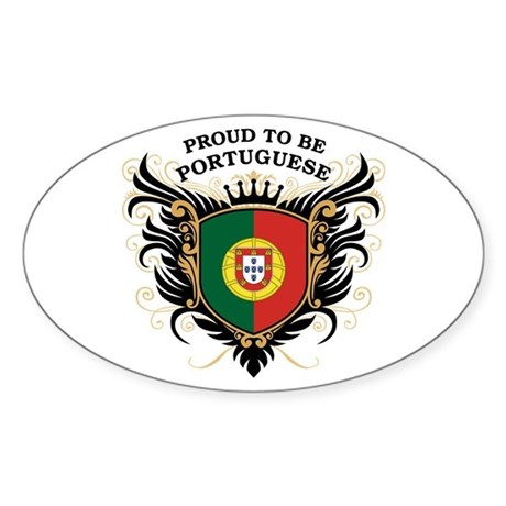 Proud to be Portuguese Oval Sticker
