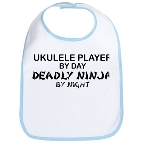 Ukulele Player Deadly Ninja Bib