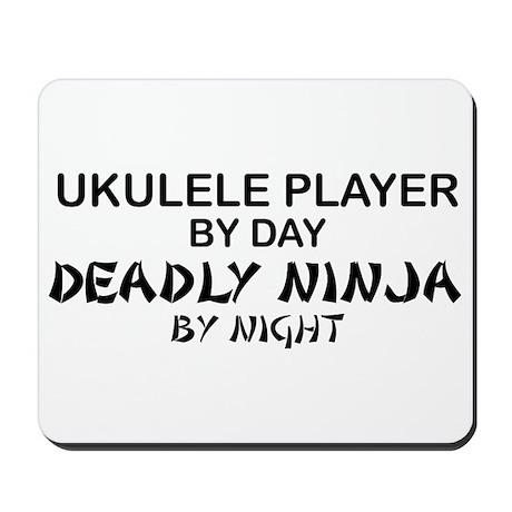 Ukulele Player Deadly Ninja Mousepad