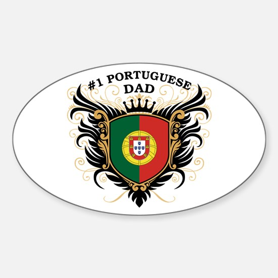 Number One Portuguese Dad Oval Decal