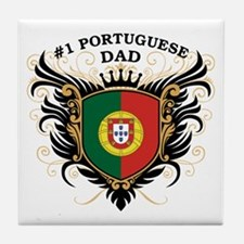 Number One Portuguese Dad Tile Coaster