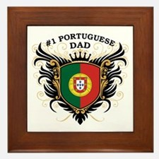 Number One Portuguese Dad Framed Tile