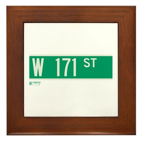 171st Street in NY Framed Tile