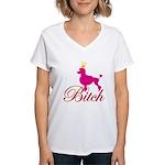 """Pink Bitch"" Women's V-Neck T-Shirt"