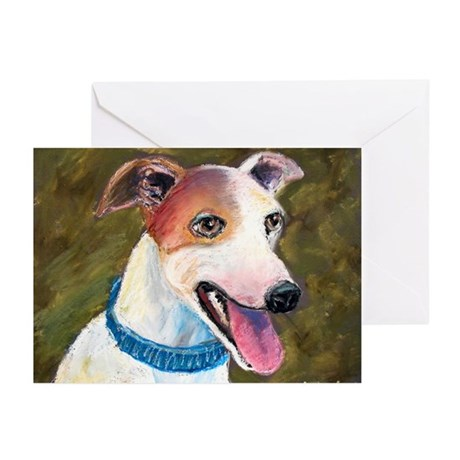 Barney a Whippet Greeting Cards (Pk of 10)