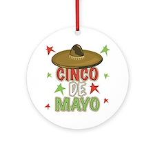 Cinco de Mayo Sombrero Ornament (Round)