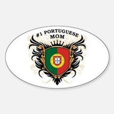 Number One Portuguese Mom Oval Decal