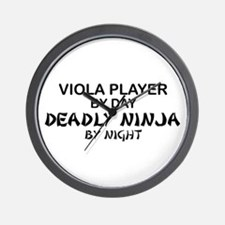 Viola Deadly Ninja by Night Wall Clock