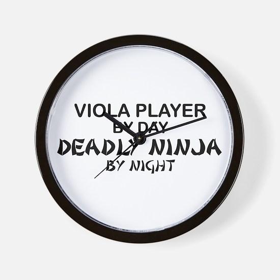 Viola Deadly Ninja by Night Wall Clock