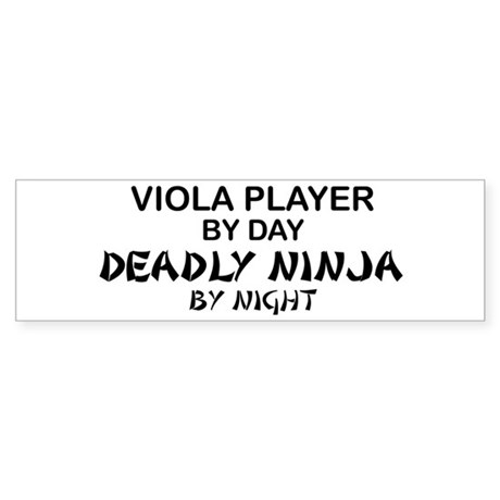 Viola Deadly Ninja by Night Bumper Sticker