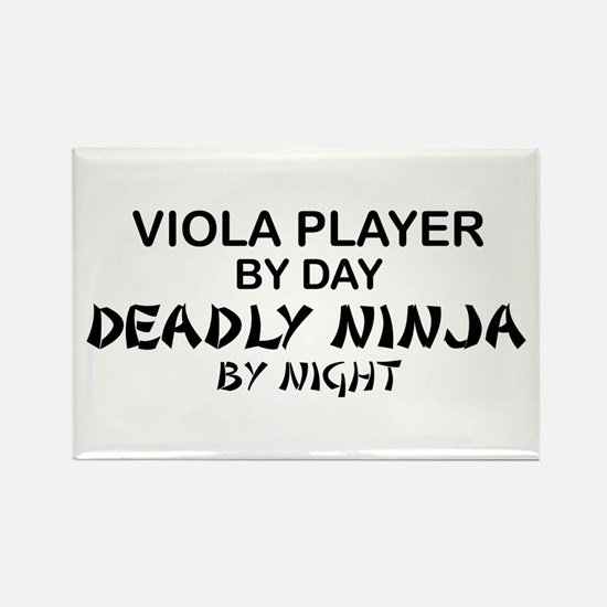Viola Deadly Ninja by Night Rectangle Magnet