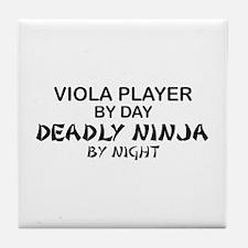 Viola Deadly Ninja by Night Tile Coaster