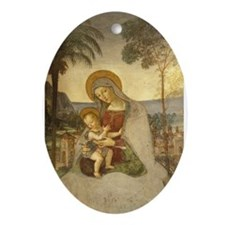 The Virgin Mary Oval Ornament