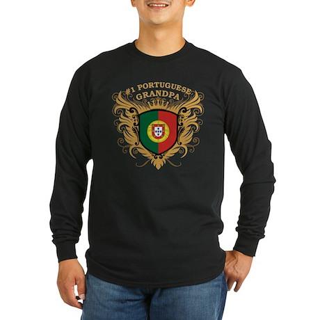 Number One Portuguese Grandpa Long Sleeve Dark T-S