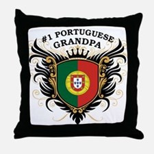 Number One Portuguese Grandpa Throw Pillow