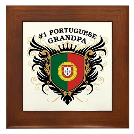 Number One Portuguese Grandpa Framed Tile