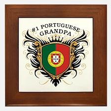 Number One Portuguese Grandpa Framed Tile