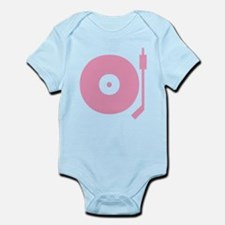 Old school record player pink Infant Bodysuit