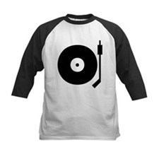Old school record player blac Tee