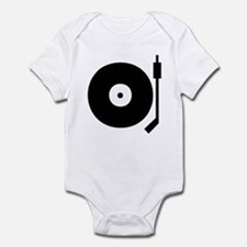 Old school record player blac Infant Bodysuit