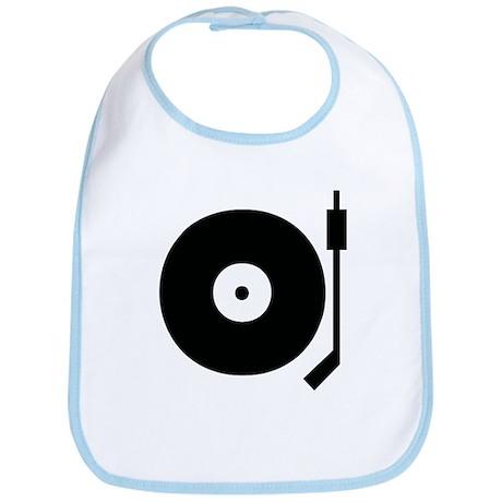 Old school record player blac Bib