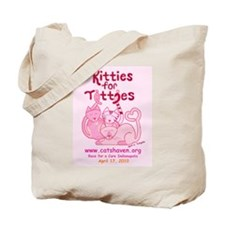 Team Kitties for Titties Tote Bag