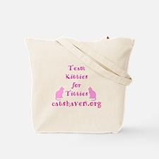 Team Kitties for Titties Tote Bag