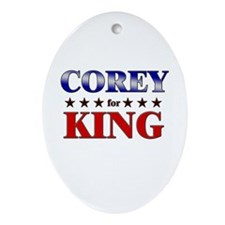 COREY for king Oval Ornament