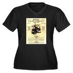 Bonnie Parker Women's Plus Size V-Neck Dark T-Shir