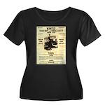 Bonnie Parker Women's Plus Size Scoop Neck Dark T-