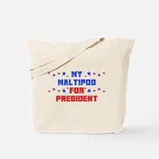 Maltipoo PRESIDENT Tote Bag