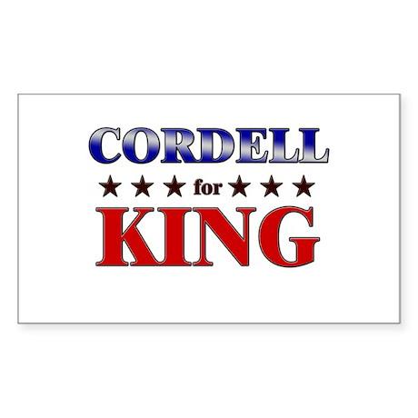CORDELL for king Rectangle Sticker