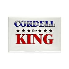 CORDELL for king Rectangle Magnet