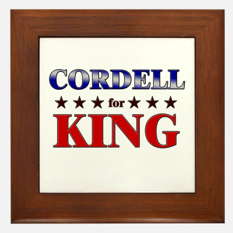 CORDELL for king Framed Tile