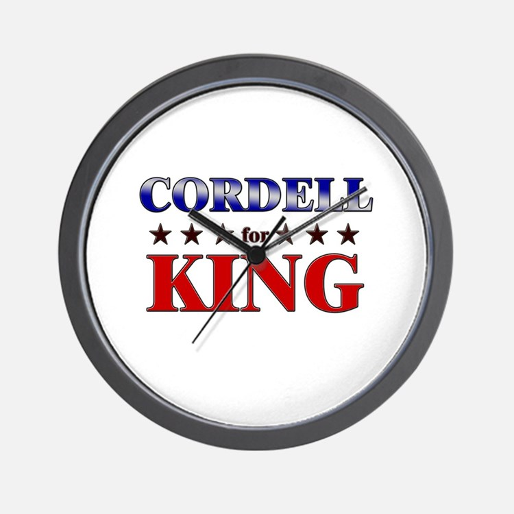 CORDELL for king Wall Clock