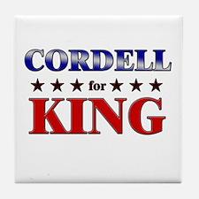 CORDELL for king Tile Coaster