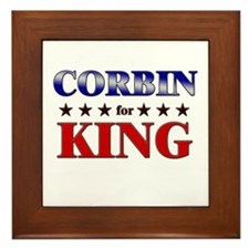 CORBIN for king Framed Tile