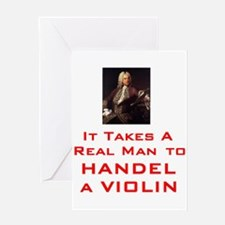 Unique Handel Greeting Card