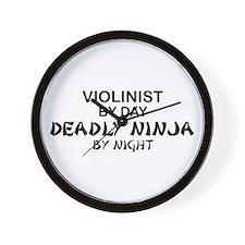 Violinist Deadly Ninja Wall Clock