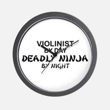 Violinist Deadly Ninja Wall Clock
