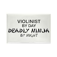 Violinist Deadly Ninja Rectangle Magnet