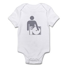 Spinning DJ silver Infant Bodysuit