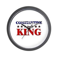 CONSTANTINE for king Wall Clock