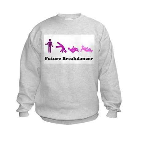 Future Breakdancer purples Kids Sweatshirt