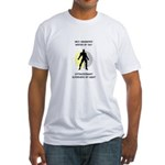 Writing Superhero Fitted T-Shirt