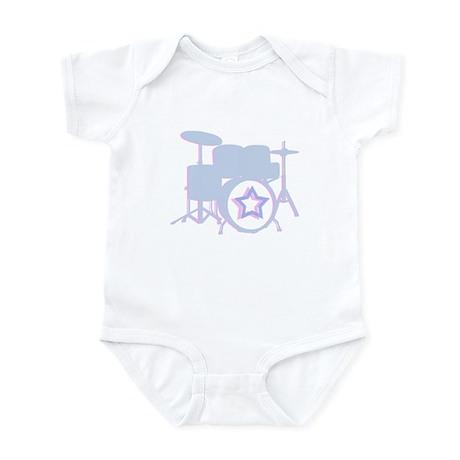 3-D drum set blue Infant Bodysuit