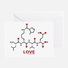 Love molecule Greeting Card
