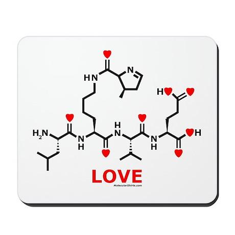 Love molecule Mousepad